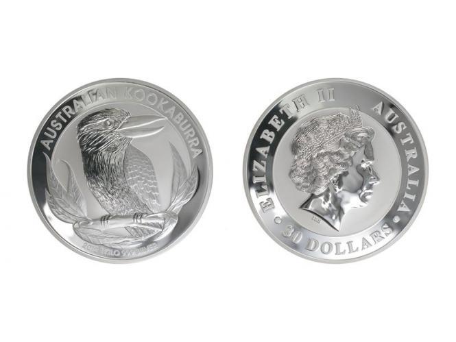 Australien 30$ Kookaburra 2012, 1 Kilo Kg  Silber,