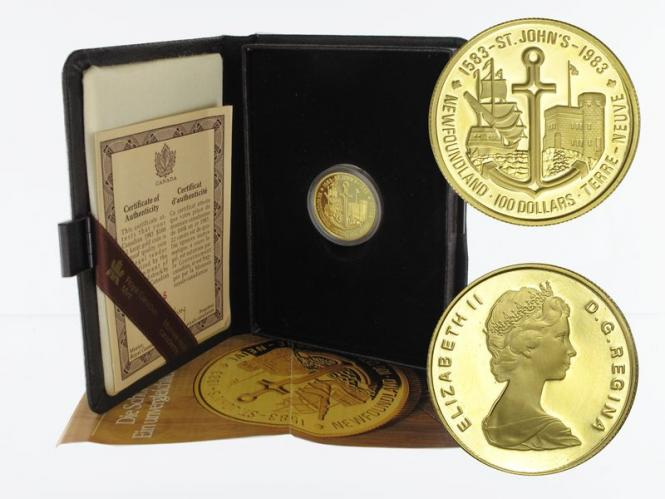Kanada Fregatte 100 Dollars 1983, 1/2 oz proof