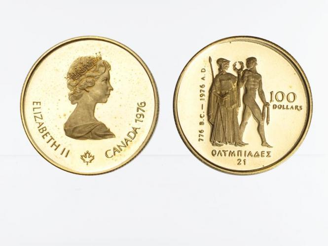 Kanada Göttin Athene 100 Dollars 1976, 1/2 oz