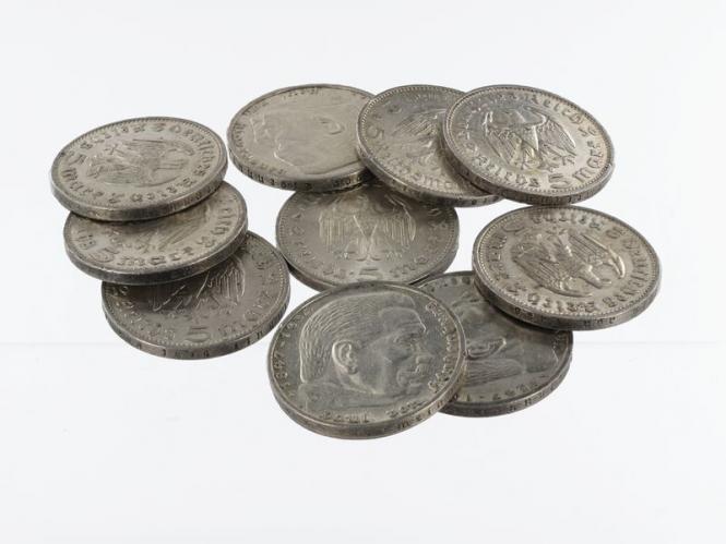 3. Reich 5 Reichsmark 1934-39 (10)