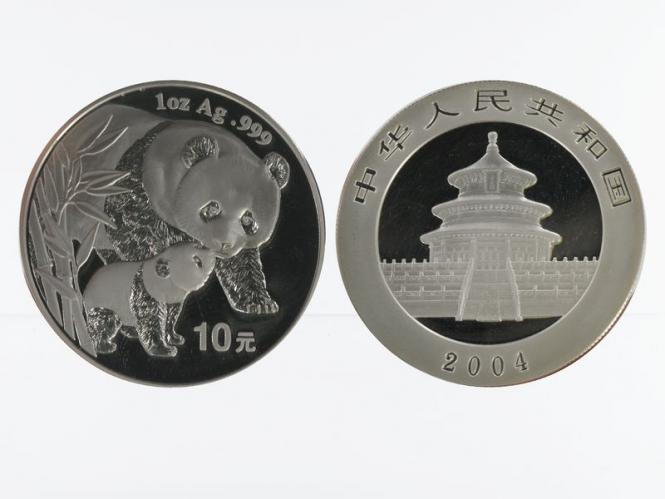 China 10 Yu Panda  2004, 1 oz  Silber