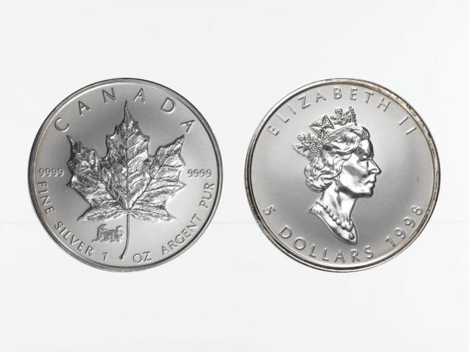 Kanada 5$ Maple Leaf 1998, Privy Mark  Tiger