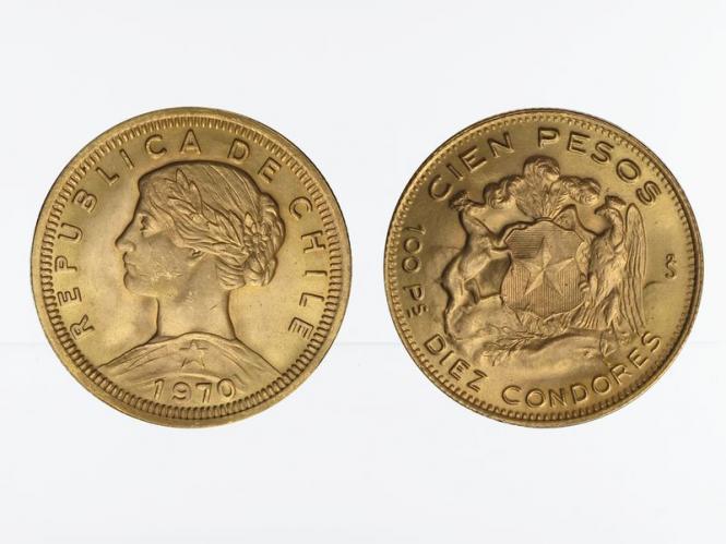 Chile 100 Pesos Freiheitskopf 1970