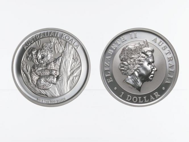 Australien 1$ Koala 2013, 1 Unze  Silber