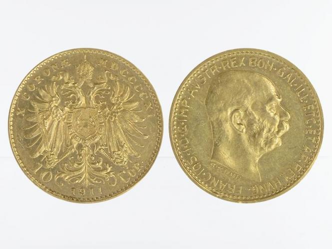 Österreich 10  Kronen 1911 (St. Schwartz)