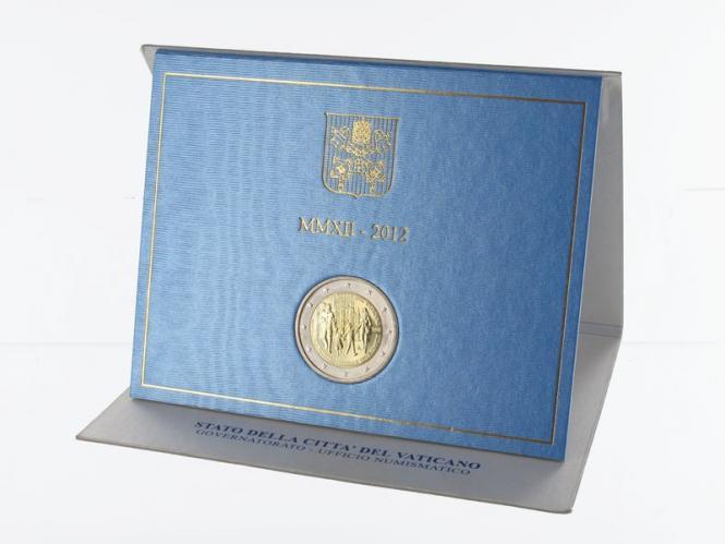 Vatikan 2 Euro Münze, 2012, Weltjugendtag im Folder