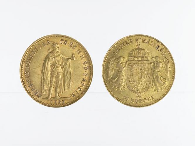 Ungarn 10 Korona Joseph I. 1906