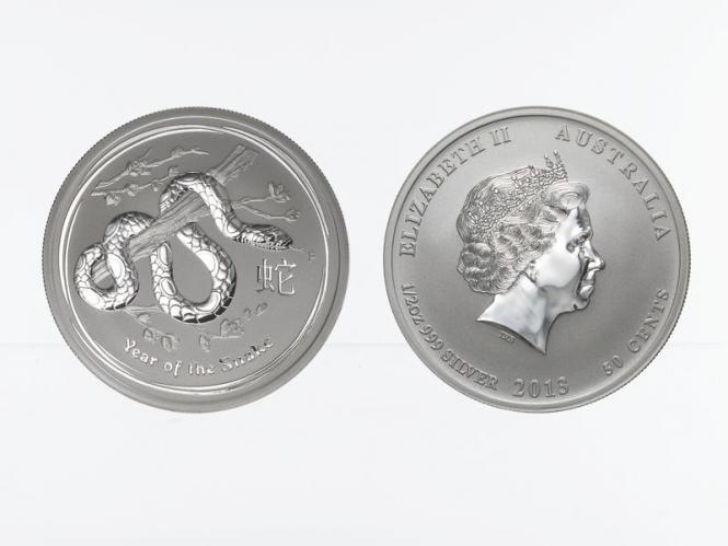 Australien 1/2$ Schlange Lunar II  2013, 1/2 oz  Silber