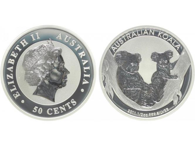 Australien 1/2 $ Koala 2011, 1/2 Unze  Silber
