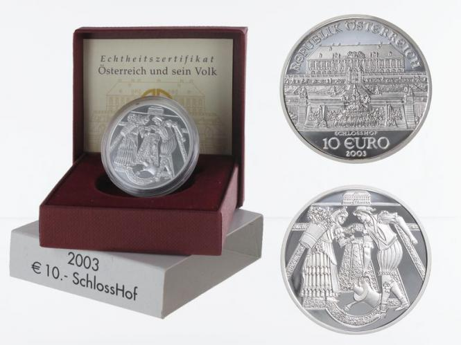 Österreich 10 Euro Silber, 2003, Schloss Hof PP