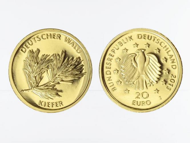 BRD 20 Euro Gold, 2013 A,  Deutscher Wald Kiefer