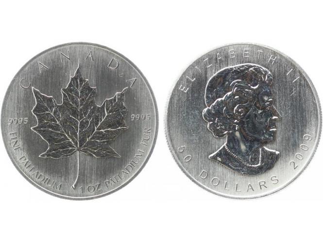 Kanada 50 Dollar 1 oz Maple Leaf, 1 oz Palladium