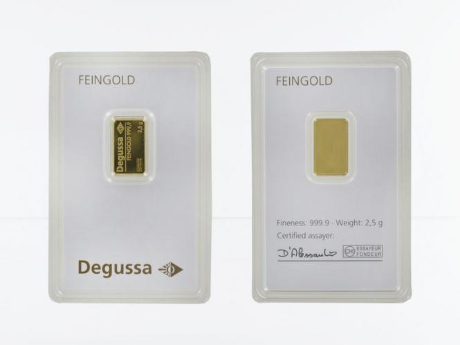 2,5 Gramm 999,9 Feingold Folie