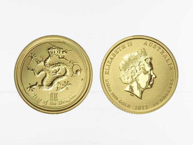 Australien 15$ Lunar II  Drache, 1/10 Unze  2012