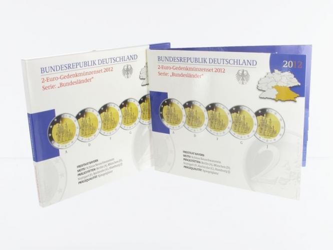 2012 Neuschwanstein (5) A D F G J kpl. PP, Faltblister