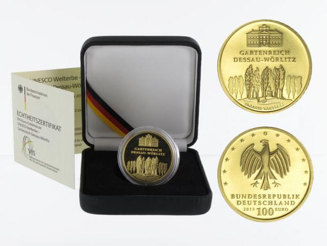 BRD 100 Euro Gold, 2013 F, Dessau-Wörlitz
