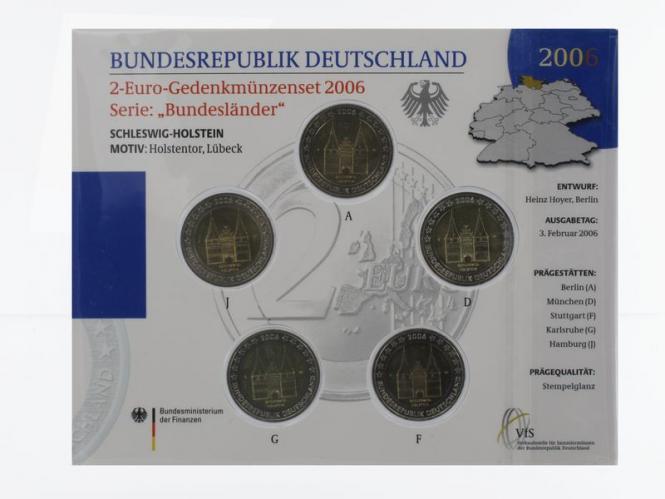 2006 Holstentor (5) A D F G J kpl. Stgl., Blister