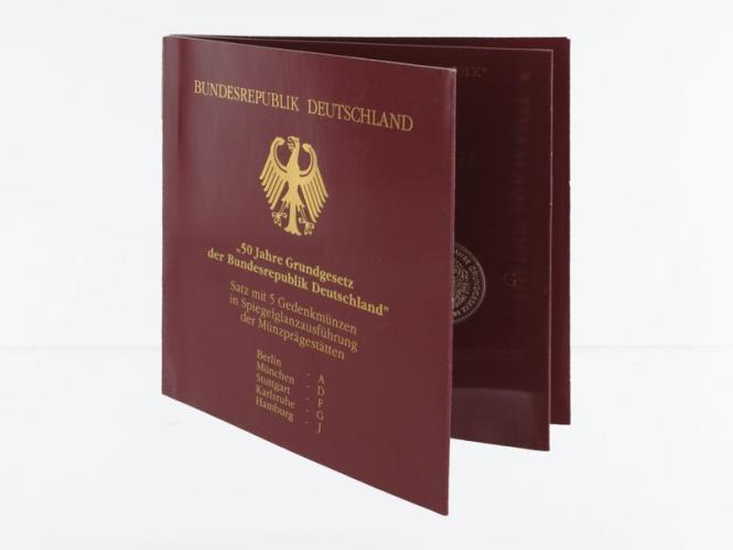 50 J. Grundgesetz (5) A D F G J kpl. PP, Blister