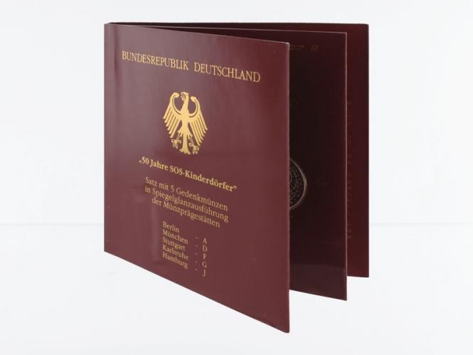 50 J. SOS Kinderdörfer (5) A D F G J kpl. PP, Blister