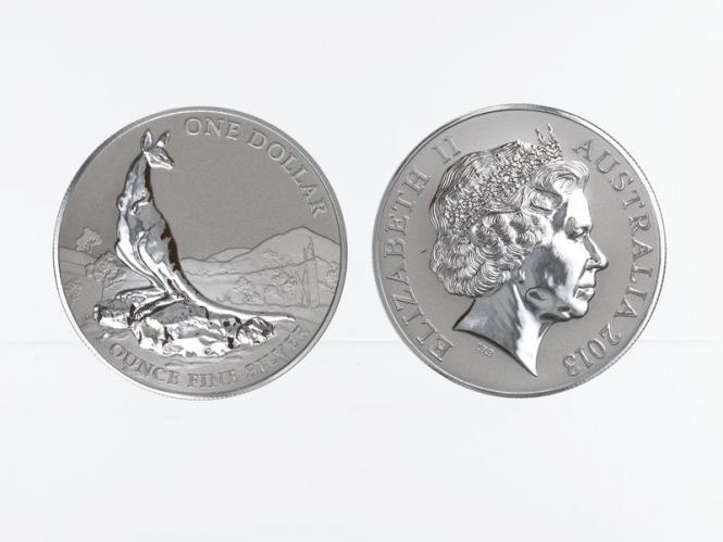 Australien 1$ Känguru 2013, 1 oz  Silber