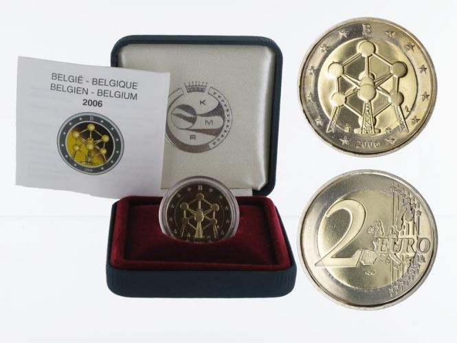 Belgien 2 € Atomium, 2006 PP in Originalbox