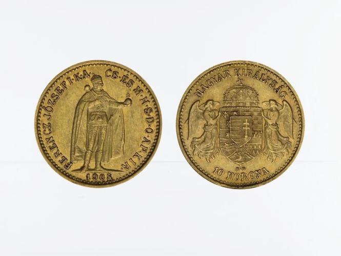 Ungarn 10 Korona Joseph I. 1905