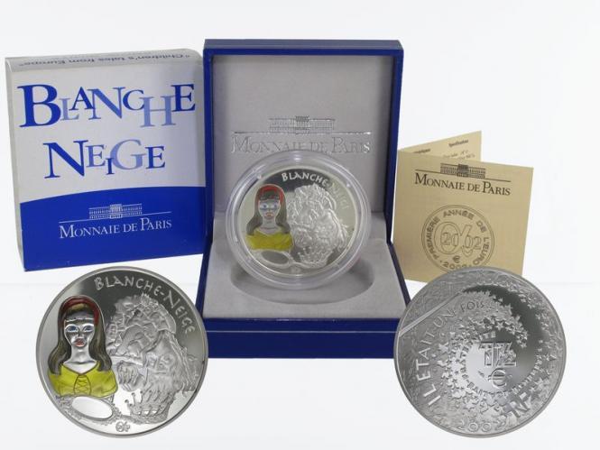 Frankreich 1,5 €  Schneewitchen 2002 PP, Silber