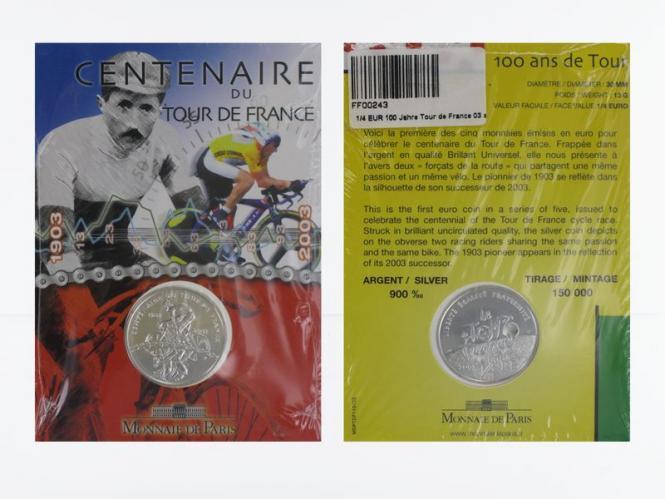 Frankreich 1/4 €  Tour de France 2002 (Stgl.), Blister