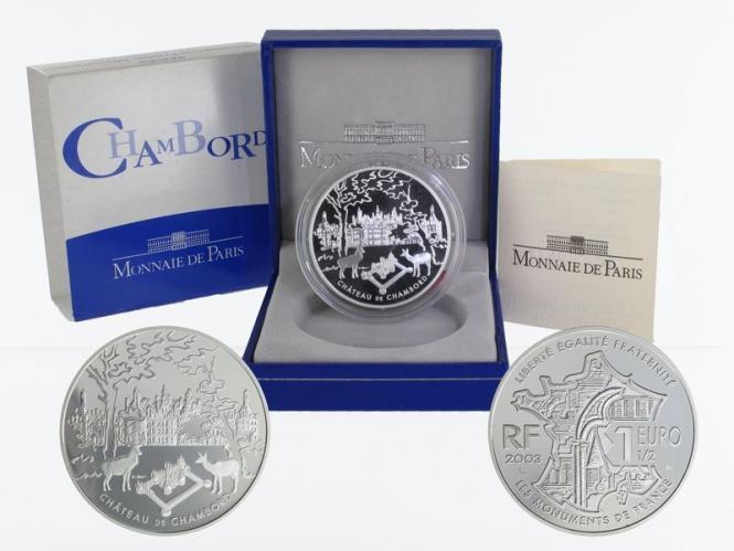 Frankreich 1,5 €  Chambord 2003 PP, Silber