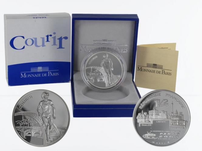 Frankreich 1,5 €  Laufen 2003 PP, Silber