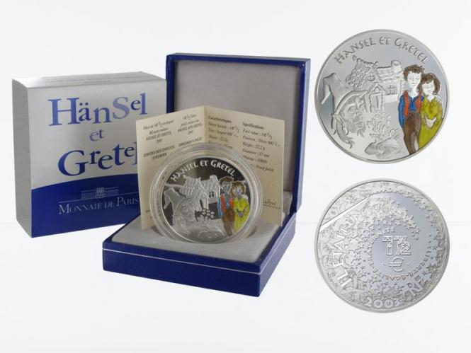 Frankreich 1,5 €  Hänsel + Gretel 2003 PP, Silber