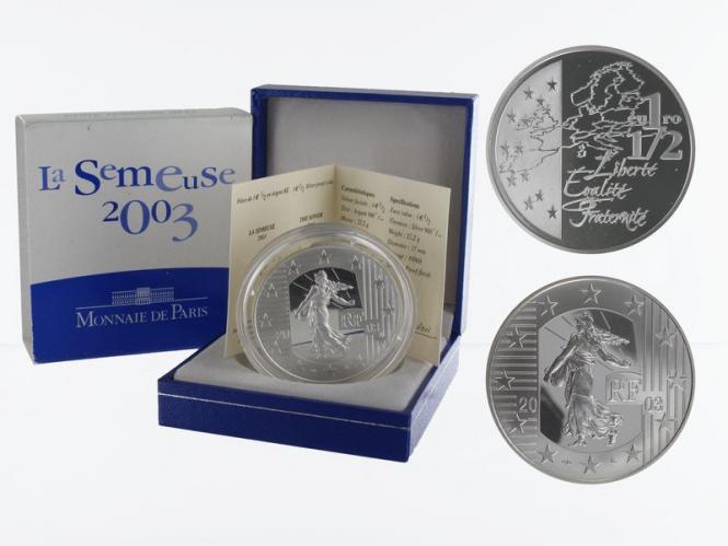 Frankreich 1,5 €  Säerin 2003 PP, Silber
