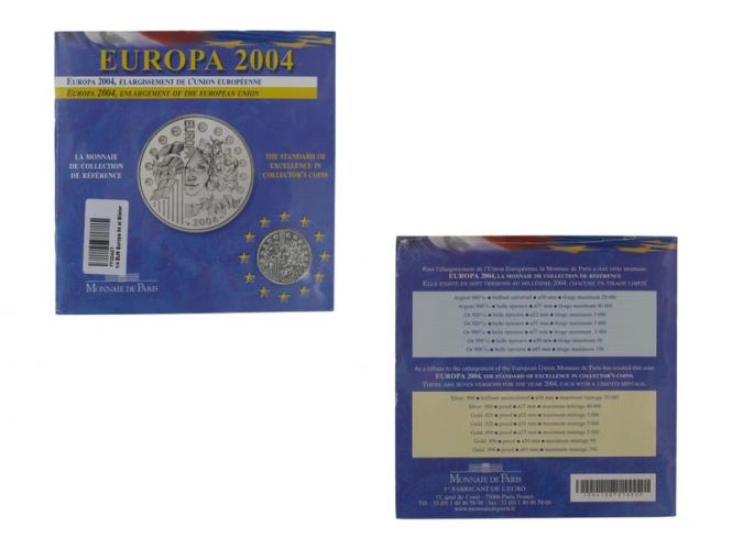 Frankreich 1/4 €  Europa 2004 (Stgl.), Blister