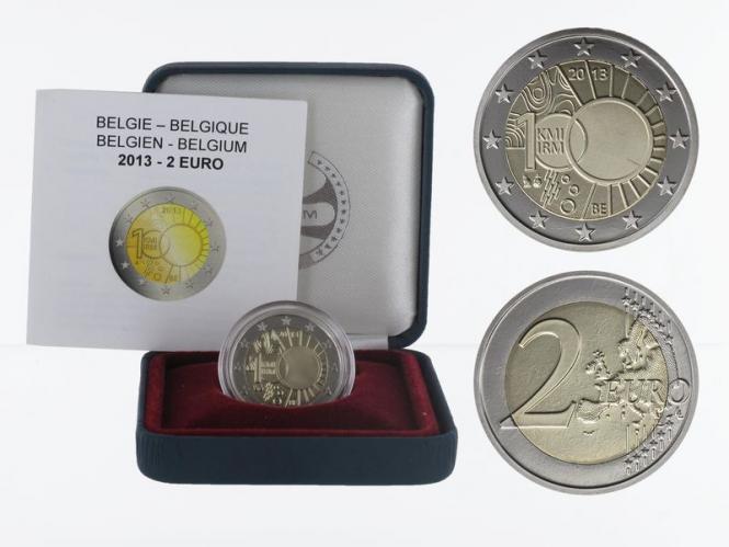Belgien 2 € Meterologisches Institut, 2013 PP in Originalbox