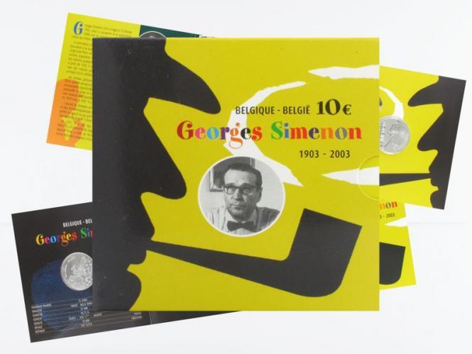 Belgien 10 € Georges Simenon PP, Klappfolder