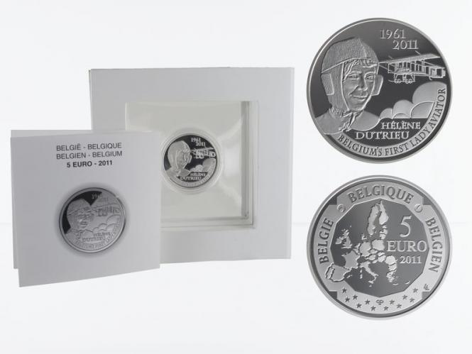 Belgien 5 €  Helene Dutrieux 2011 PP, Silber