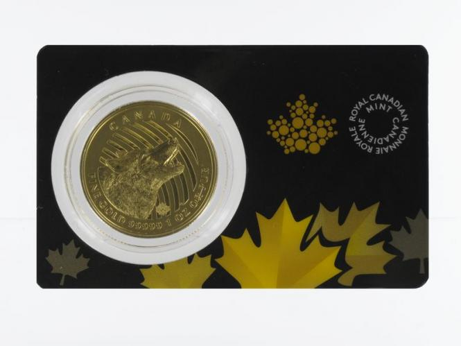 Kanada 200 Dollar Maple Leaf 2014, Howling Wolf