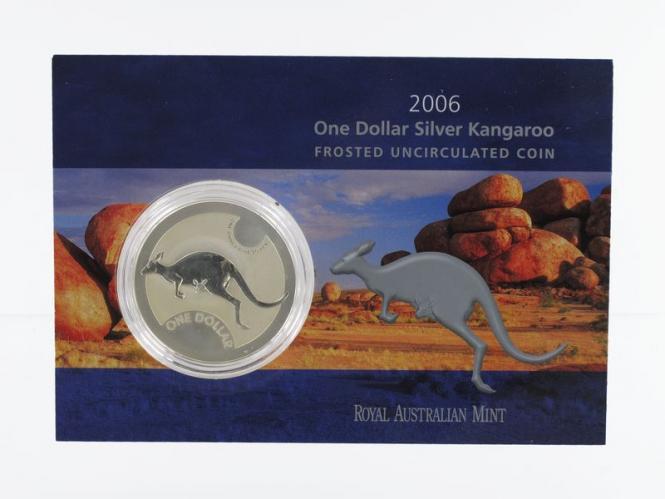Australien 1$ Känguru 2006 Blister, 1 oz  Silber