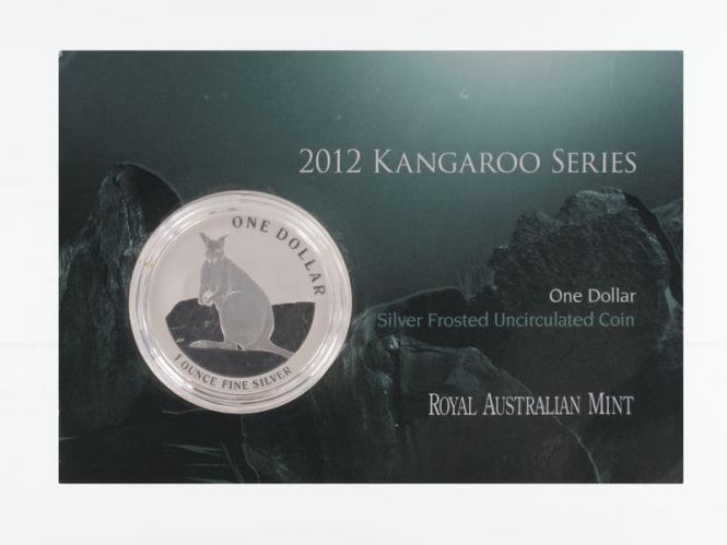 Australien 1$ Känguru 2012 Blister, 1 oz  Silber