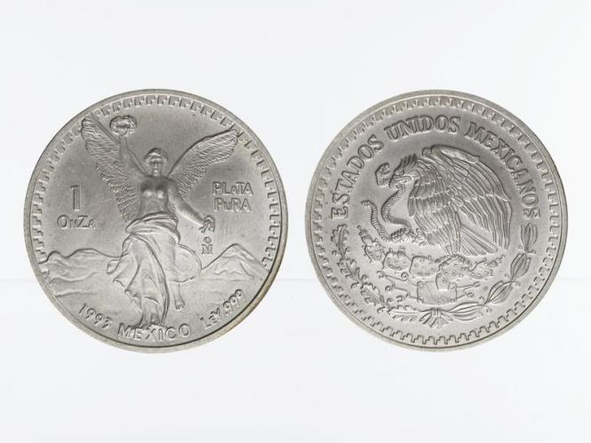 Mexiko Libertad, 1993, 1 OnZa Silber