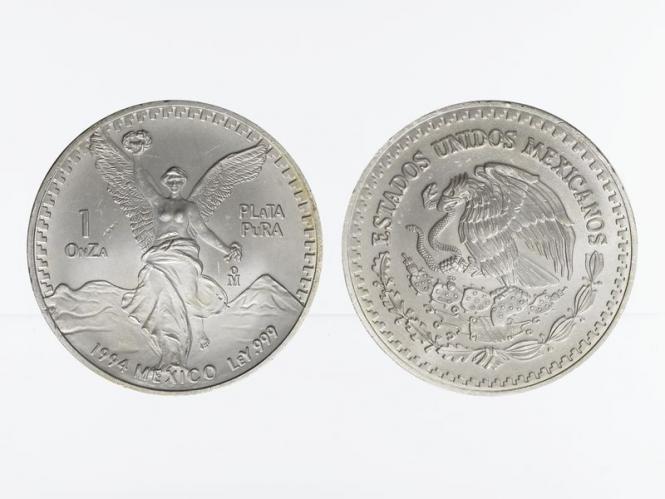 Mexiko Libertad, 1994, 1 OnZa Silber