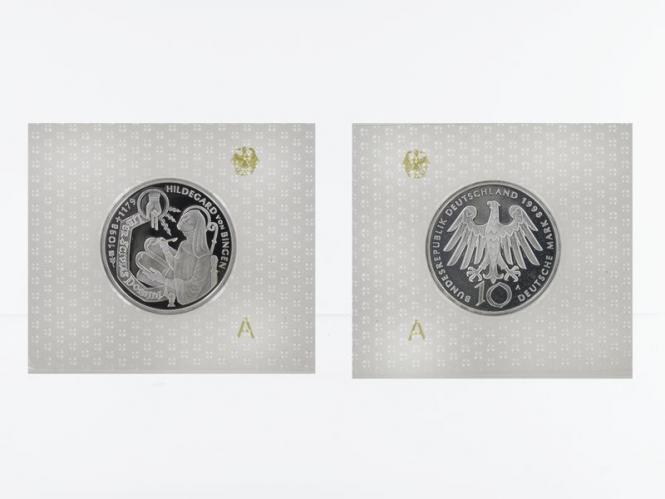 Hildegard v. Bingen 10 DM Silber, PP