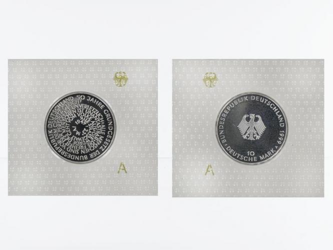 50 J. Grundgesetz 10 DM Silber, PP