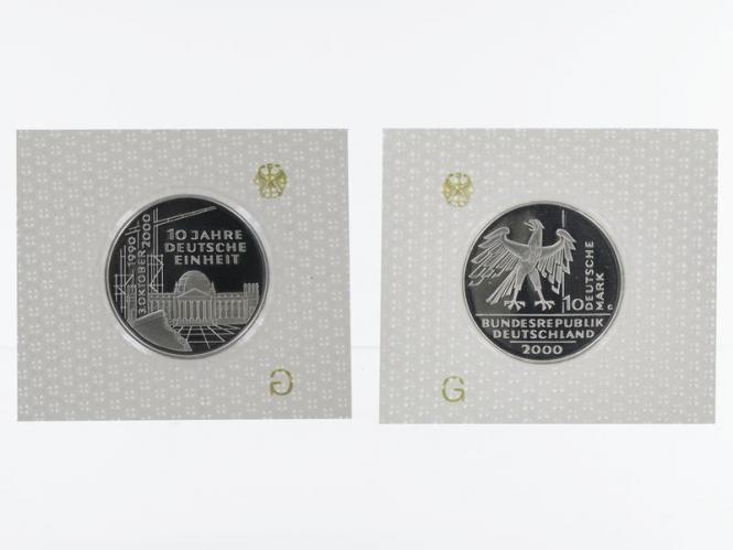 10 J. Deutsche Einheit 10 DM Silber, PP