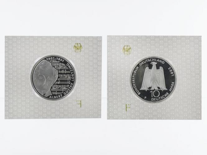 Albert Lortzing 10 DM Silber, PP