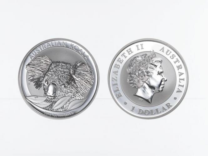 Australien 1$ Koala 2014, 1 Unze  Silber