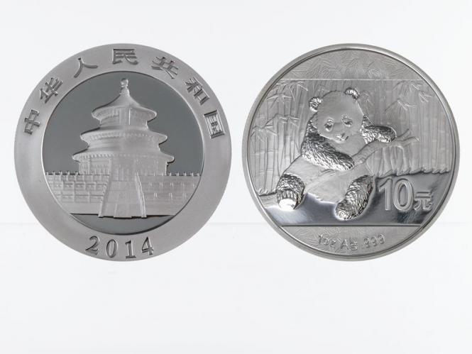 China 10 Yu Panda  2014, 1 oz  Silber