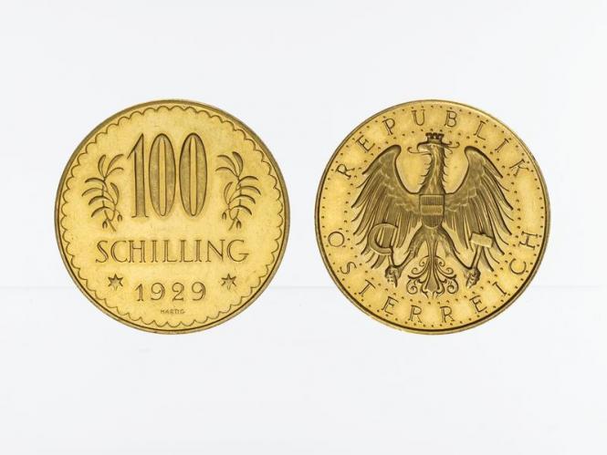 Österreich 1. Republik 100  Schilling  1929