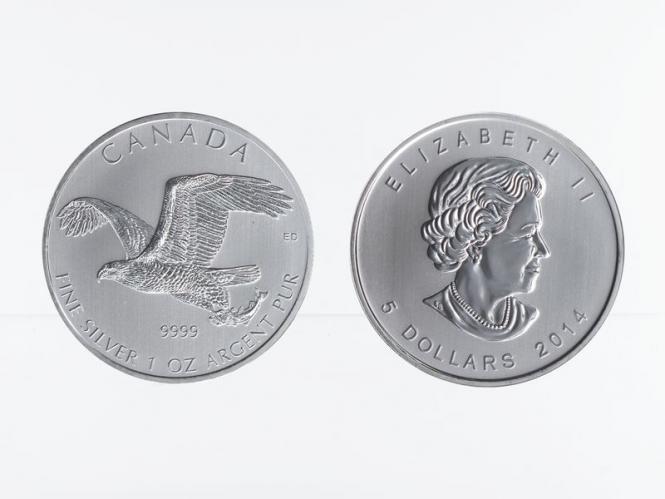 Kanada 5$ Birds of Prey Bald Eagle 2014