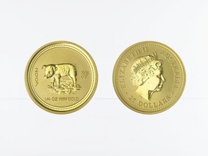 Australien 25 $ Lunar I  Schwein, 1/4 Unze  2007